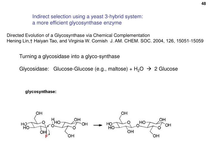Indirect selection using a yeast 3-hybrid system: