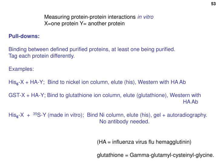 Measuring protein-protein interactions