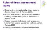 roles of threat assessment teams