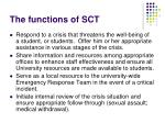 the functions of sct