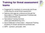 training for threat assessment teams