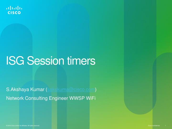 isg session timers n.