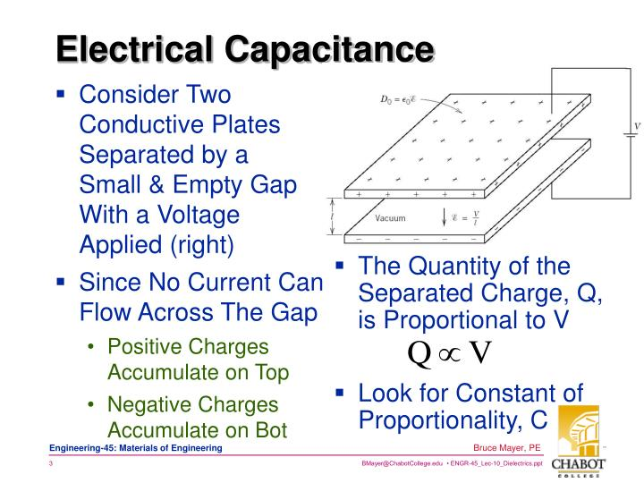 Electrical capacitance