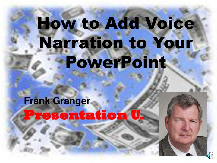 how to add voice narration to your powerpoint n.