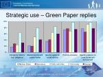 strategic use green paper replies