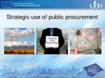 strategic use of public procurement