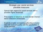 strategic use social services possible measures