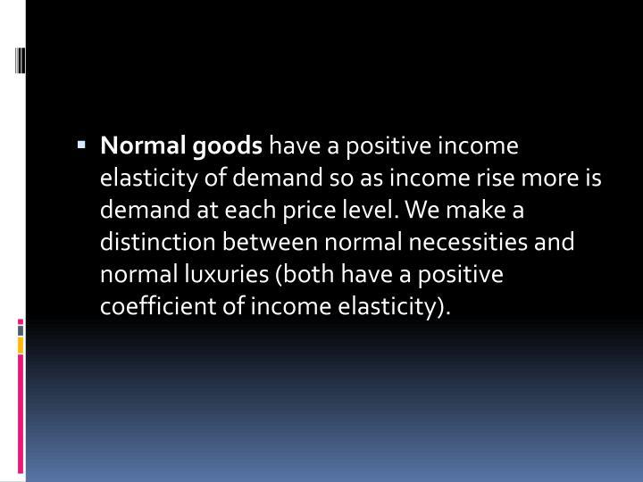 Normal goods