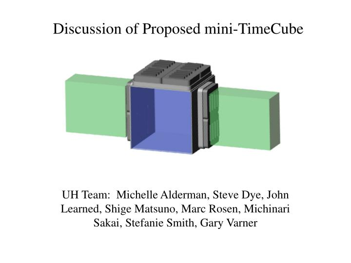 discussion of proposed mini timecube n.