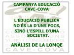 campanya educaci cave cova