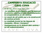 campanya educaci cave cova2