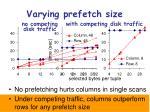 varying prefetch size1