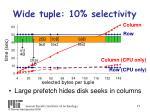 wide tuple 10 selectivity