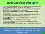 janji gubernur 2013 2018
