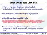 what would help oma ds