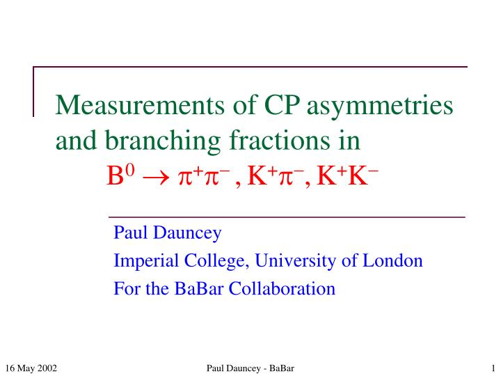 Measurements of cp asymmetries and branching fractions in b 0 p p k p k k