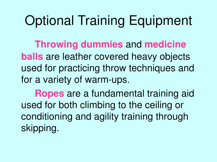 Optional Training Equipment