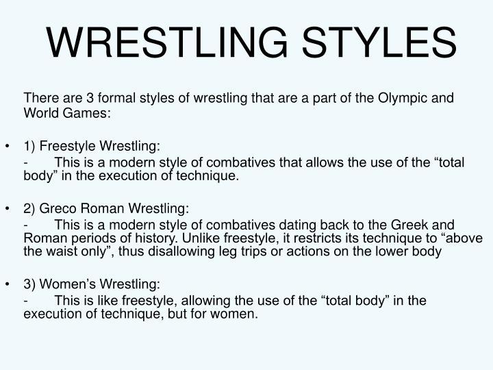 Wrestling styles