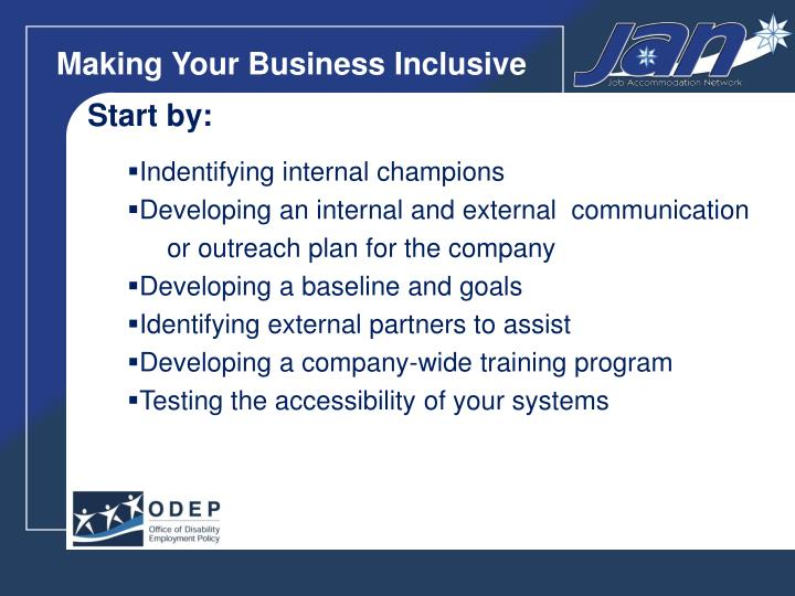 Making Your Business Inclusive