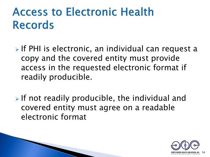Access to Electronic Health Records