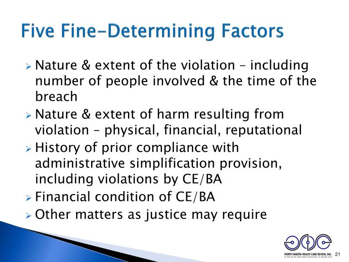 Five Fine-Determining Factors