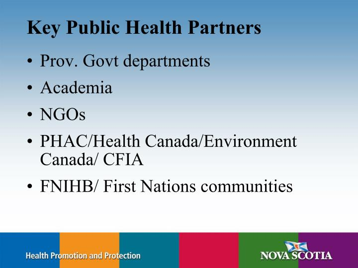 Key Public Health Partners