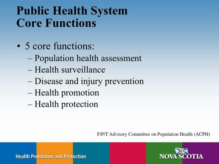 Public Health System
