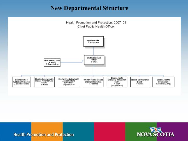New Departmental Structure