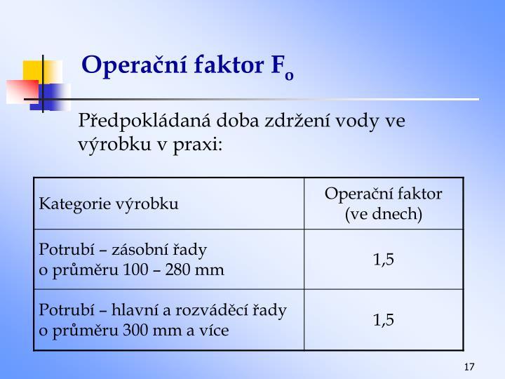 Operační faktor F