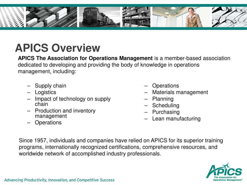 PPT - APICS Certified in Production and Inventory Management