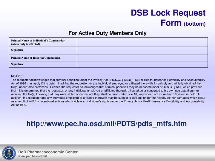 DSB Lock Request