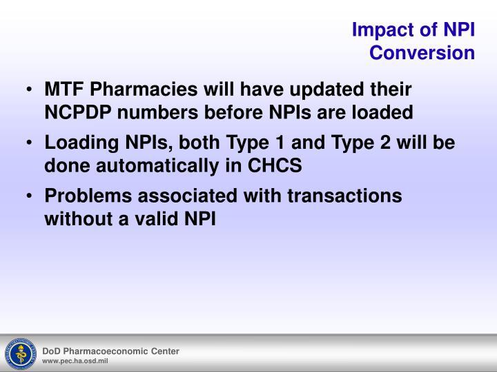 Impact of NPI