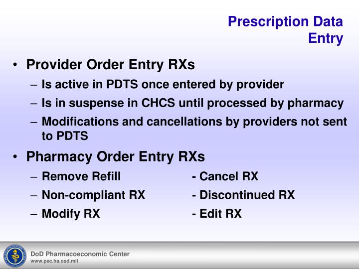 Prescription Data