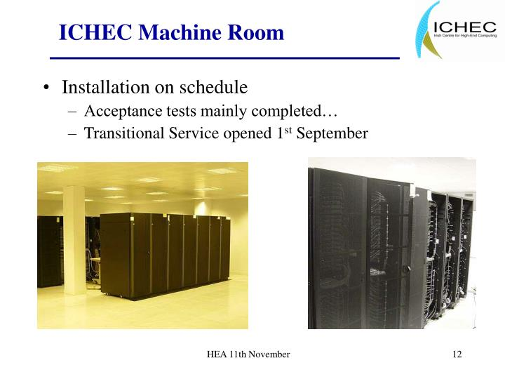 ICHEC Machine Room