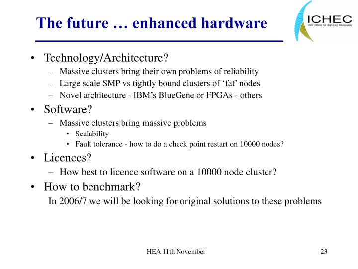 The future … enhanced hardware