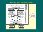 performing the automation