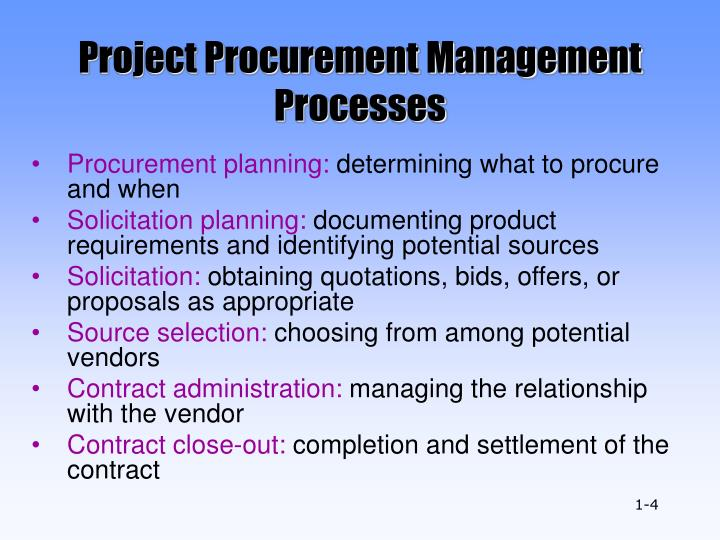 the six major project procurement processes The six phases of project management this chapter provides a sketch of the traditional method of project management the model that is discussed here forms the basis for all methods of project management.