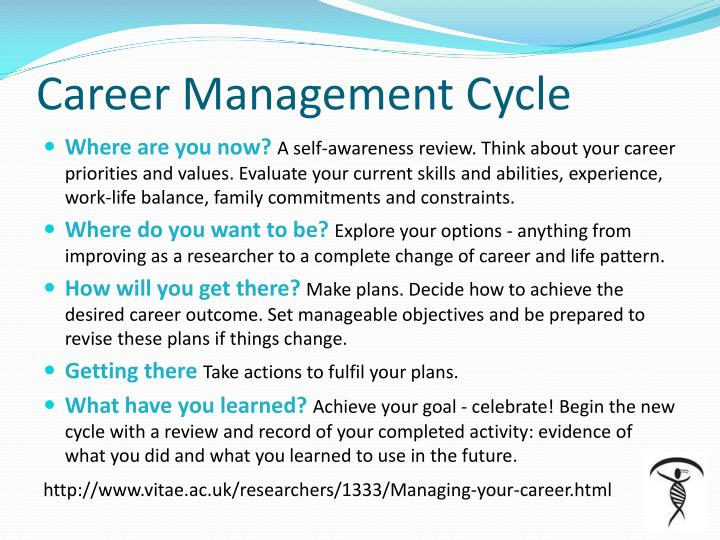 Career management cycle