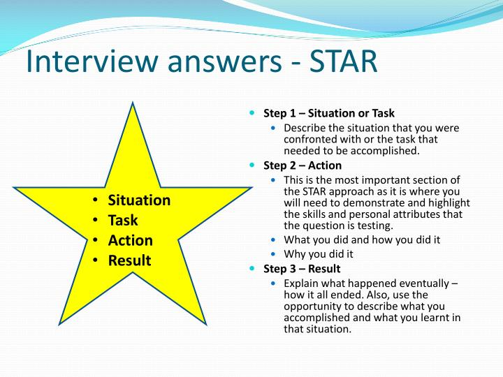 Interview answers - STAR