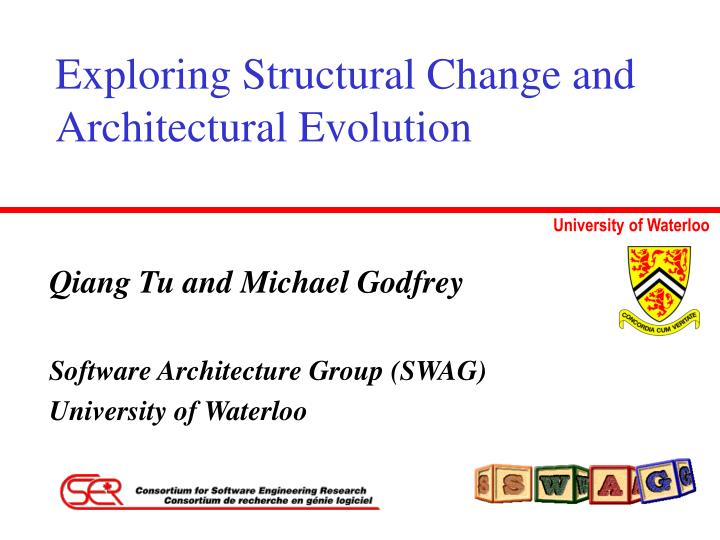 exploring structural change and architectural evolution n.