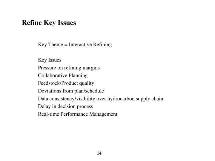 Refine Key Issues