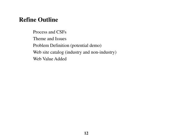 Refine Outline
