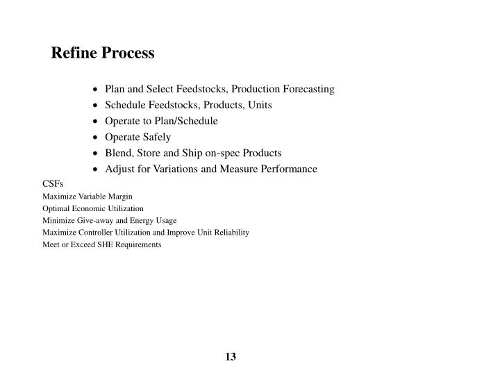 Refine Process