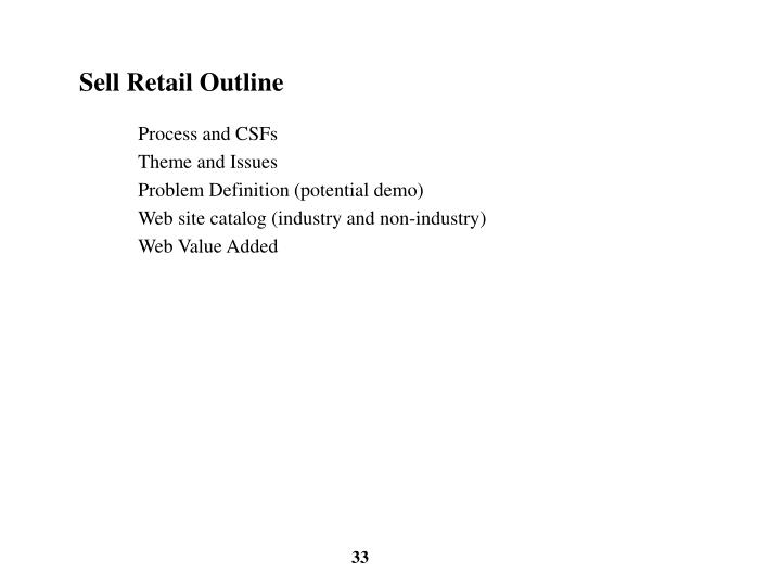 Sell Retail Outline