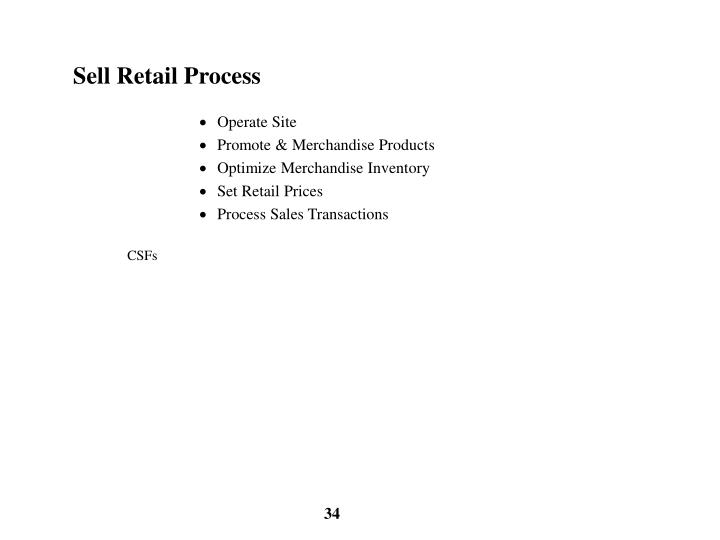 Sell Retail Process