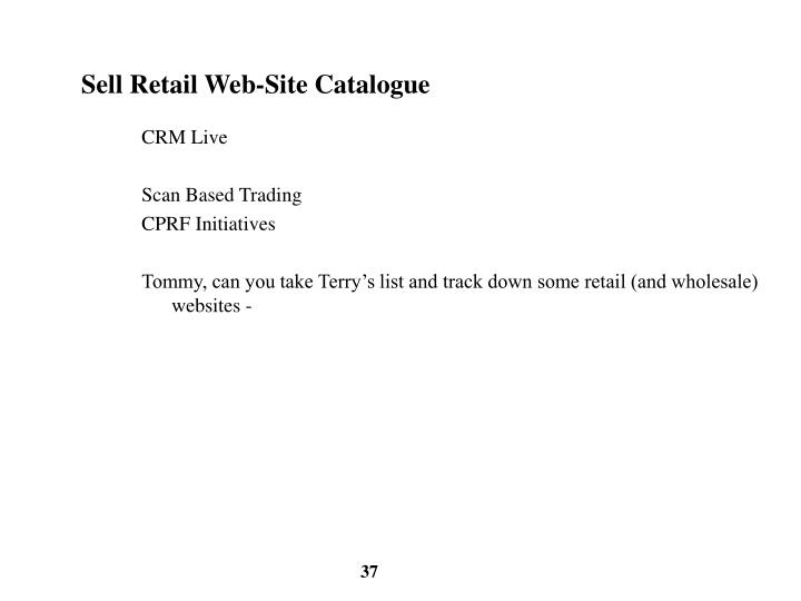 Sell Retail Web-Site Catalogue