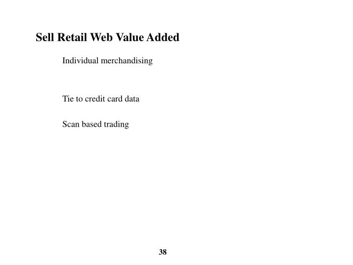 Sell Retail Web Value Added