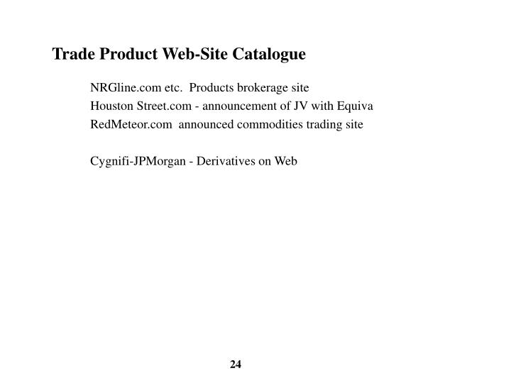 Trade Product Web-Site Catalogue