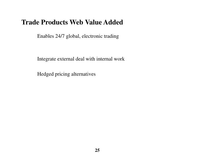 Trade Products Web Value Added