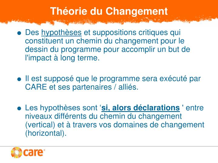 Théorie du Changement